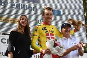 Mathias Norsgaard, en el podio del Tour del Porvenir.