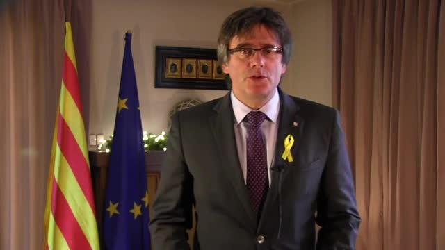Mensaje de Carles Puigdemont desde Bruselas