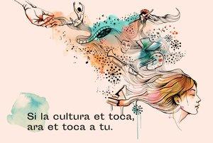 Imagen anunciadora de esta campaña por la cultura.
