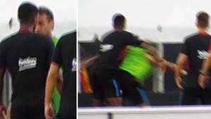 Neymar se pelea con Semedo en la concentración del Barça