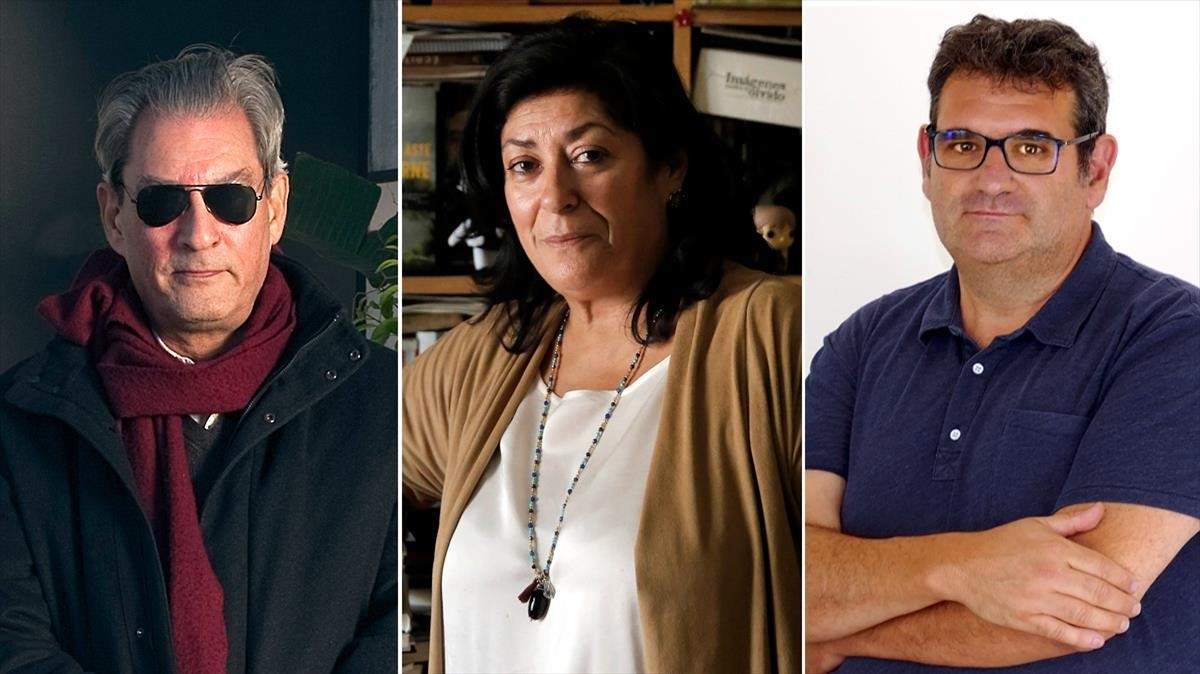 Paul Auster, Almudena Grandes y Jordi Puntí.