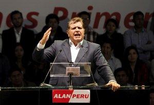 El expresidente de Perú, Alan García.