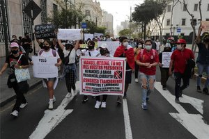 Protestas sociales en Perú en contra de Manuel Merino.