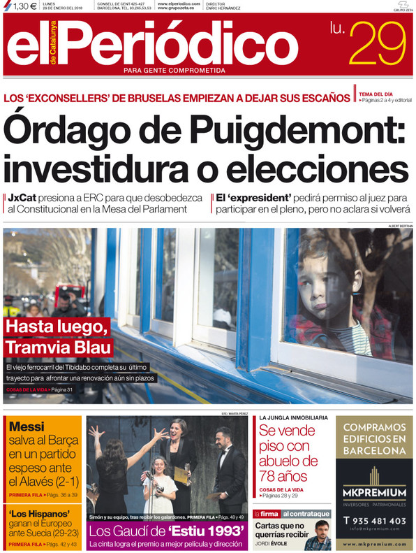 Los diarios unionistas aprietan a Torrent para que renuncie a Puigdemont