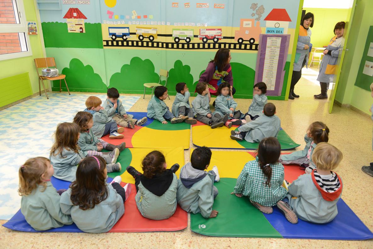 Una clase de P3, en un colegio de Barcelona.