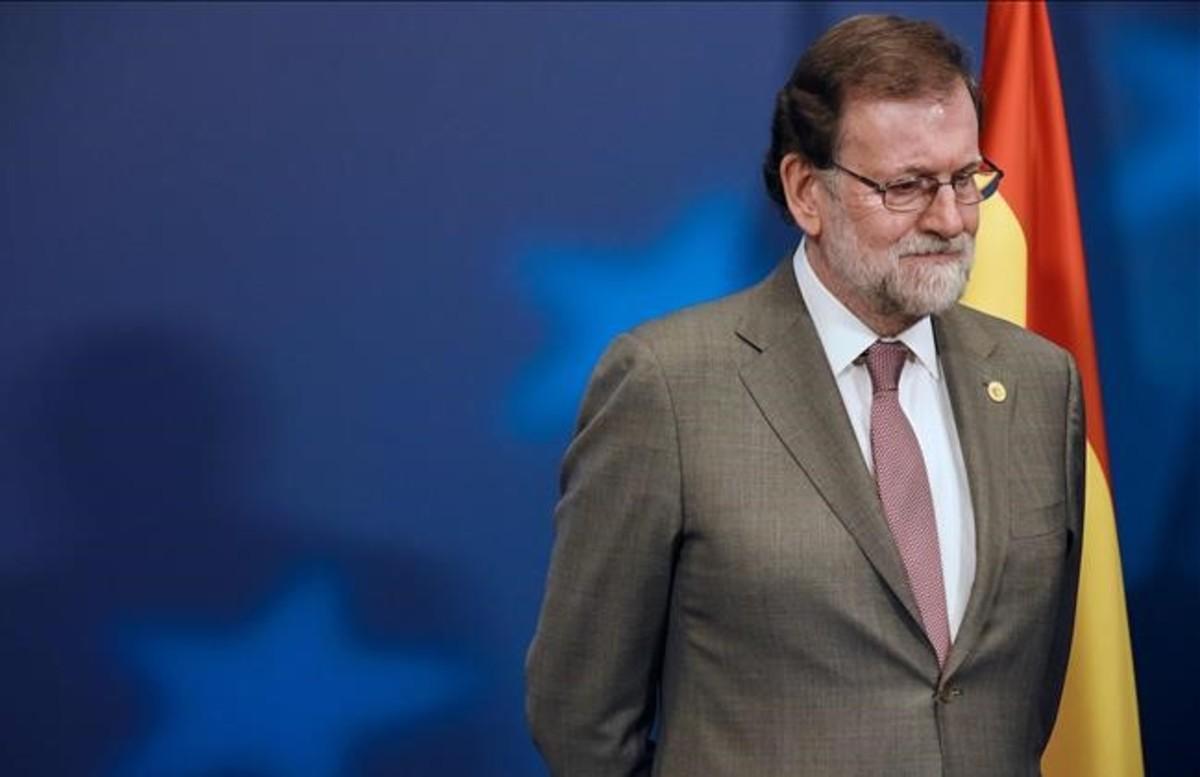 El presidente del Gobierno, Mariano Rajoy, el pasado jueves, en Bruselas.
