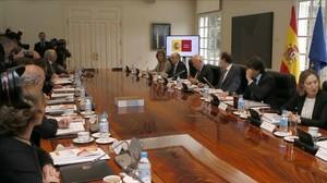 El presidente Mariano Rajoy en un consejo de ministros reciente