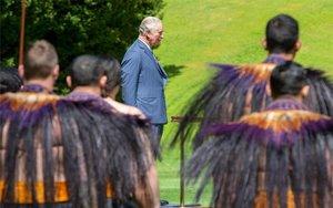 El príncipe Carlos de Inglaterra en Nueva Zelanda.