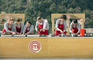 Imagen del programa de TVE-1 Masterchef grabado en Montserrat.