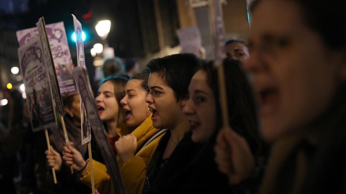 Protestas ante la sentencia a la Manada.