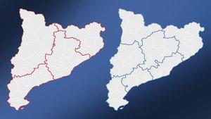El mapa que mostra les diferències entre regió sanitària i província
