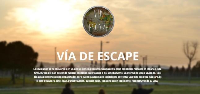 Vía de escape, un proyecto de storytelling impulsado por cinco alumnos de la UAB.