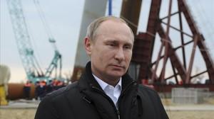 Putin, en el puerto de Kerch (Crimea), en marzo de 2016.