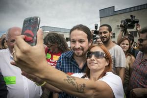 Rabell y Pablo Iglesias apoyan a los trabajadores de Valeo.