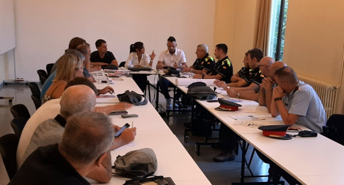 Reunión sobre seguridad del Ayuntamiento de Sabadell.