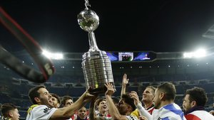 River Plate celebra la copa Libertadores del 2018 en el Santiago Bernabéu