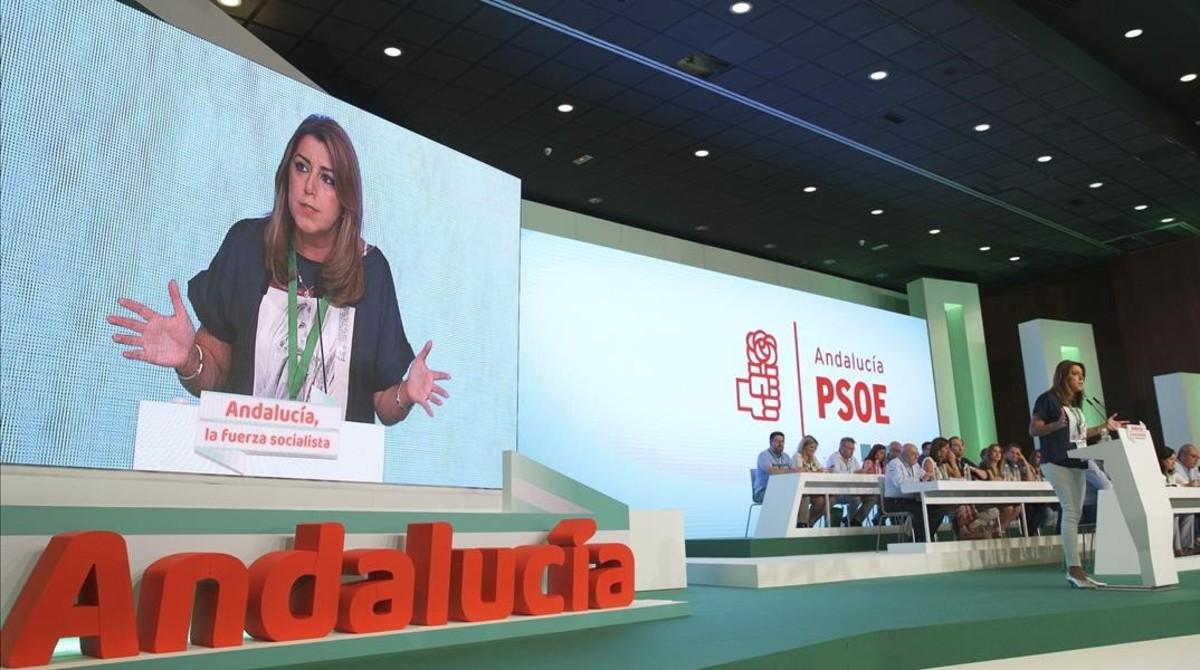 Susana Díaz interviene en el último congreso del PSOE-A.