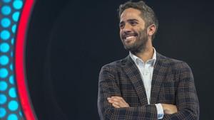 Roberto Leal, en el plató de 'Operación Triunfo'.