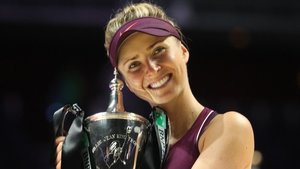 Svitolina, con el trofeo.