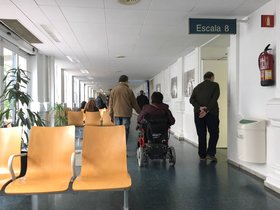 Sala de espera del Hospital Clínic de Barcelona.