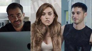 Los actores David Selvas, Laia Fontán y David Solans, nuevas incorporaciones de 'Les de l'hoquei' (TV-3).