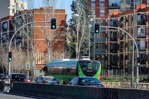 Semáforos de la A-5 en Madrid.