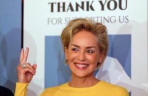 Una imagen de archivo de la actriz Sharon Stone.