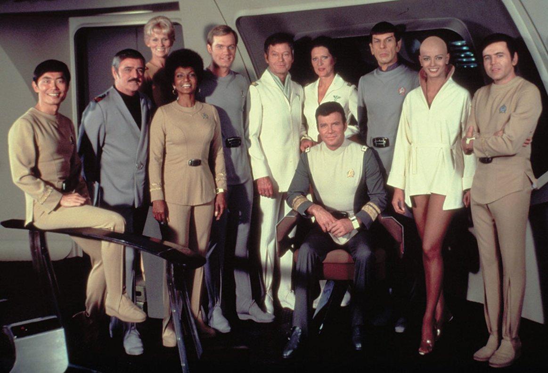 La tripulación de la primera película de la saga de 'Star Trek'.