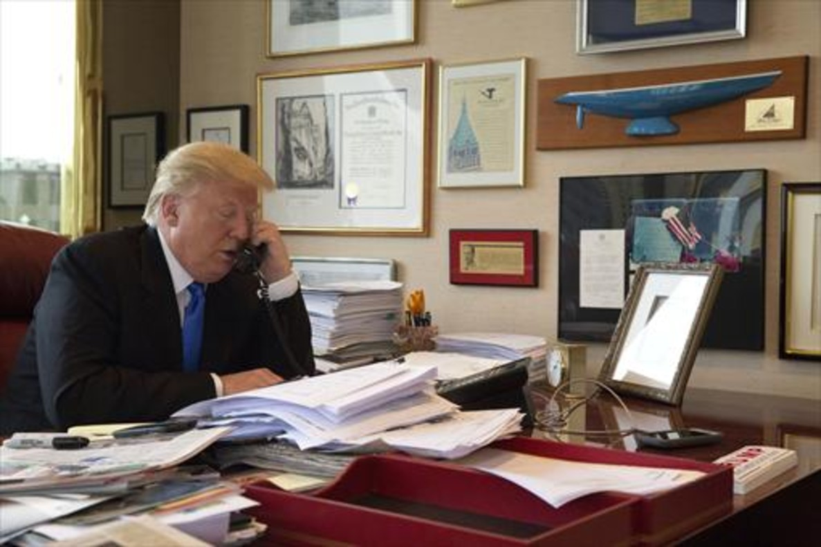 Trump, en el despacho de su torre neoyorquina, el pasado mayo.