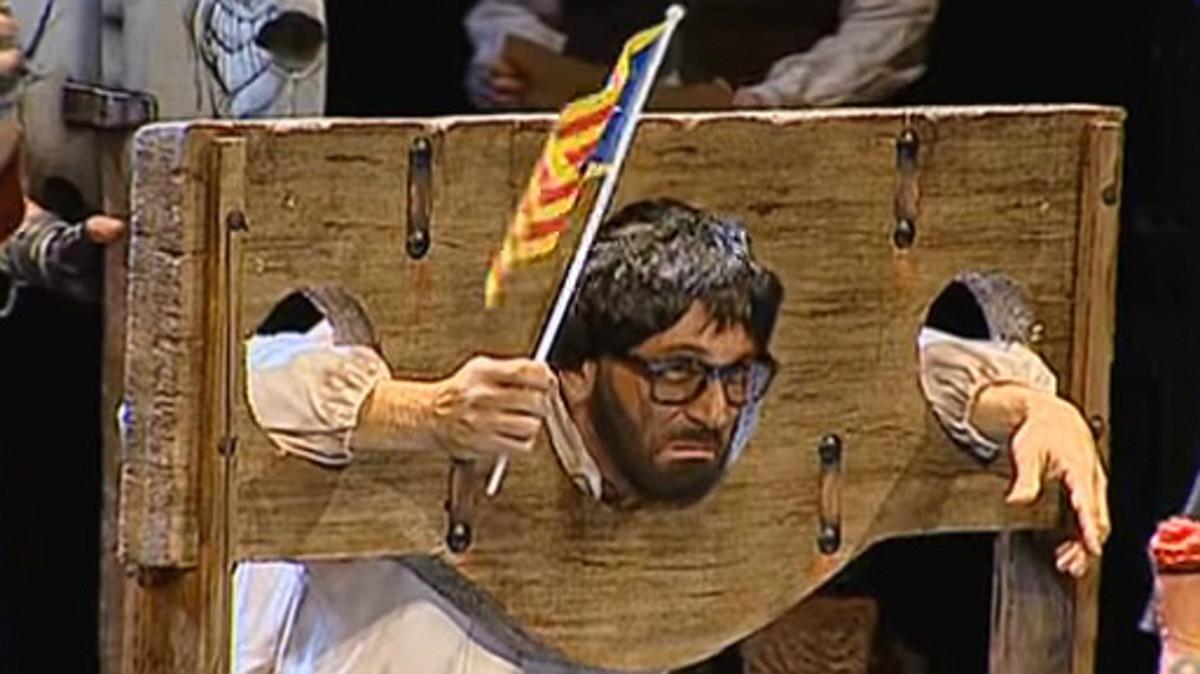 Imagen del Puigdemont condenado a muerte