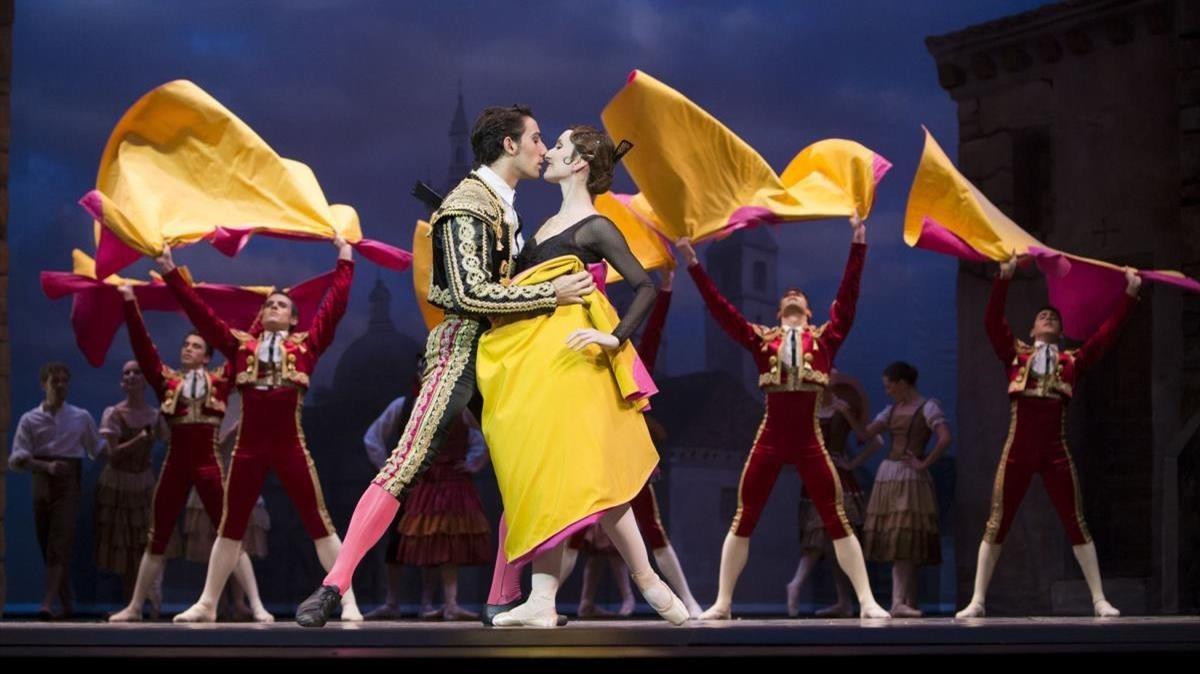 Una escena de la obra 'Don Quijote', representada el viernes en el Liceu.