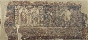 Uno de los fragmentos de pintura del monasterio de Sijena que forman parte de la colección del MNAC.