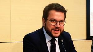 El vicepresidente y conseller dEconomia i Hisenda, Pere Aragonès, el pasado día 26.