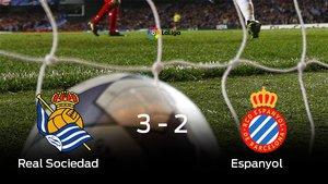 Victoria 3-2 de la Real ante el Espanyol