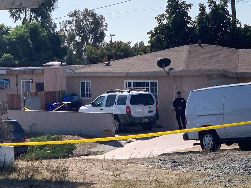 Vivienda donde se ha producido el tiroteo en Paradise Hills, en San Diego.