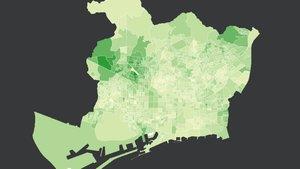 El mapa del voto a Vox en Barcelona en las elecciones generales 2019