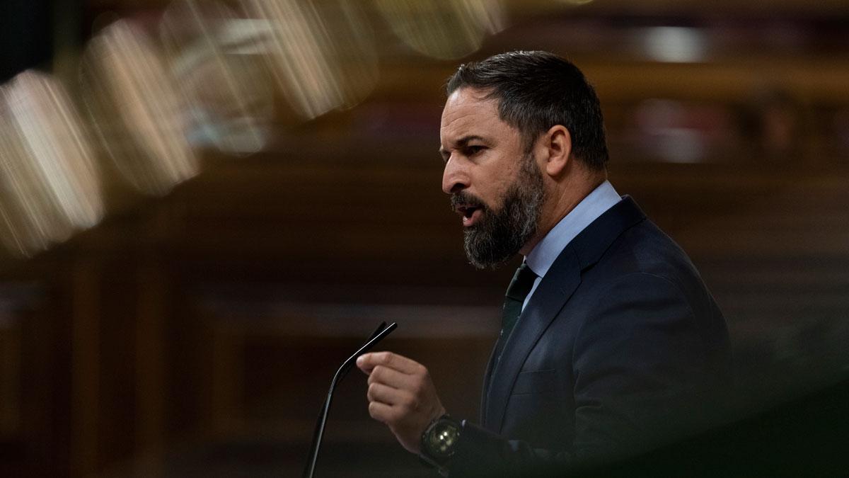 Vox presentará una moción de censura contra Sánchez en septiembre. En la foto, Santiago Abascal.