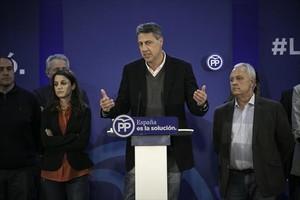 Xavier García Albiol, en la noche electoral.