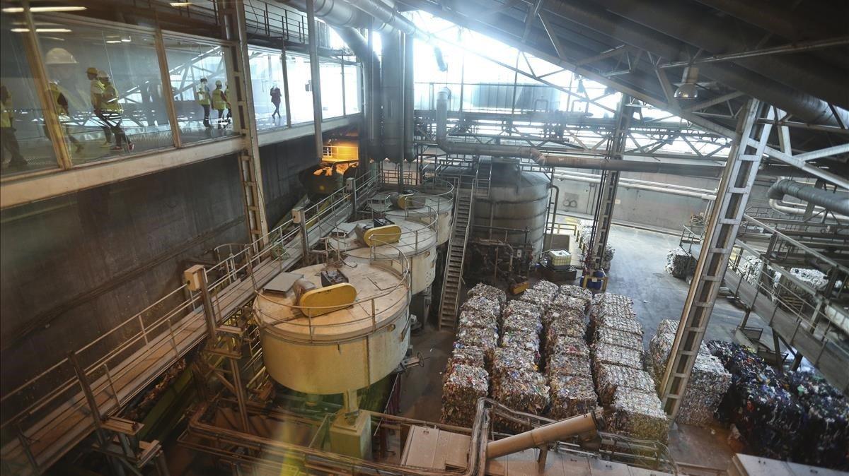 Interior de la incineradora de Sant Adrià de Besòs.