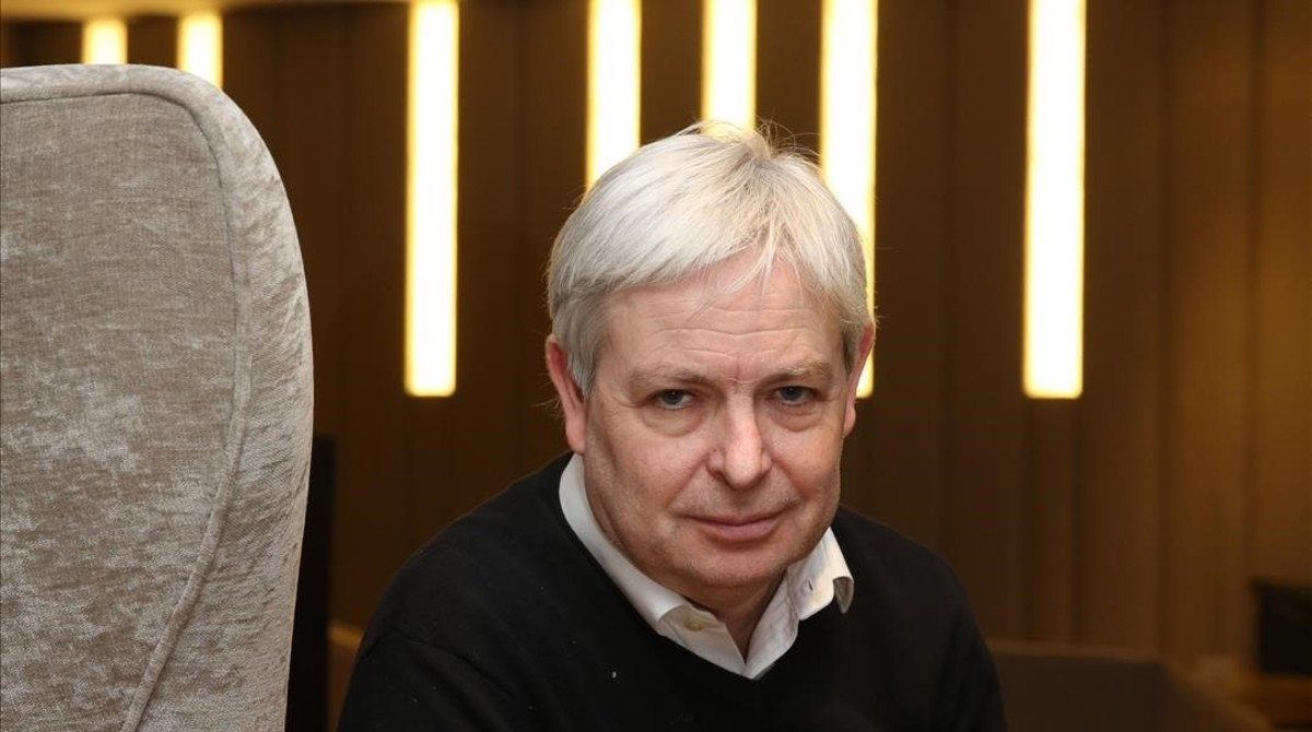 Jonathan Coe, en un céntrico hotel barcelonés.