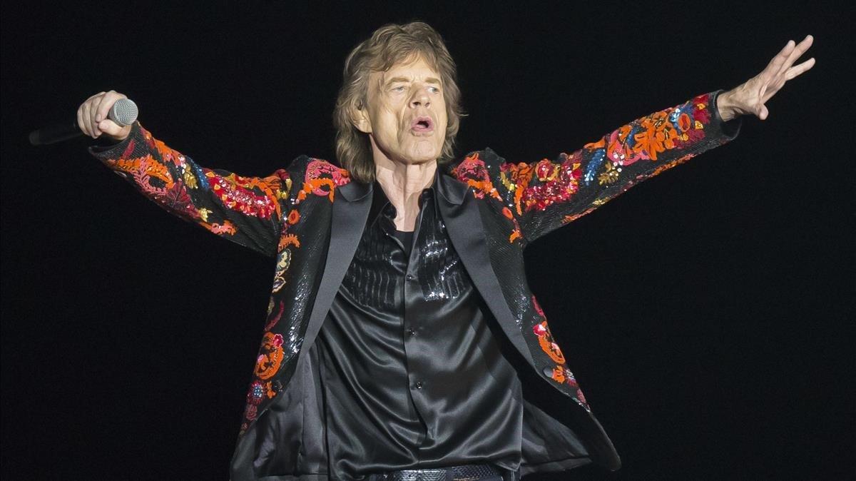Mick Jagger, durante un concierto en París.