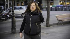 Mireia Planas perdió un brazo en un accidente de tráfico.