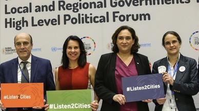 """Colau a l'ONU: """"La vida de les ciutats està en perill"""""""