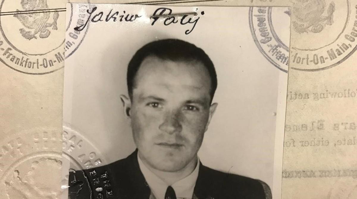 Fotografía de Jakiw Palij tomada del visado facilitado por EEUUen 1949.