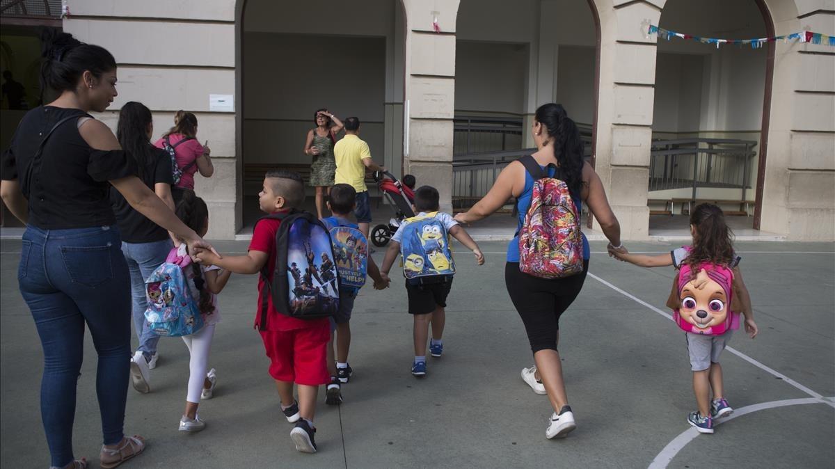 Inicio del curso escolar en el colegio público Francesc Macià de Barcelona, el pasado 12 de septiembre.