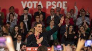 Sánchez, en su primer acto electoral, en Castellón.