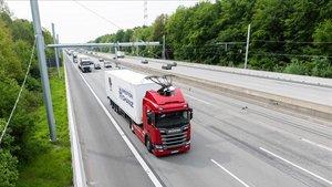Autopista eléctrica en Alemania.