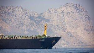 Petrolero iraní Grace 1, que estaba retenido en Gibraltar.