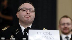 Un militar del Consell de Seguretat Nacional denuncia en les vistes d''impeachment' el comportament «inapropiat» de Trump