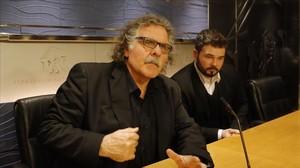 Los diputados de ERC Joan Tardà y Gabriel Rufián, en el Congreso.